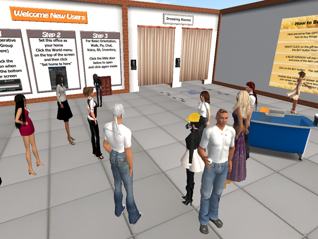 Learners with new avatars in Second Life